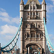 Low Angle View Of Tower Bridge, London Poster