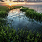 Low Country Sunset Poster