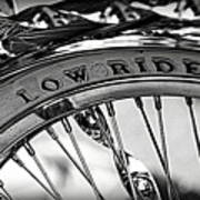 Low Rider In Black And White Poster