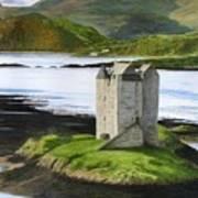 Low Tide At Castle Stalker Poster