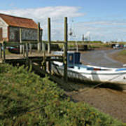 Low Tide At Thornham Poster