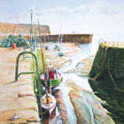 Low Tide Dysart Harbour Poster