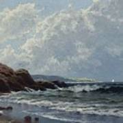 Low Tide, Hetherington's Cove, Grand Manan By Alfred Thompson Bricher Poster
