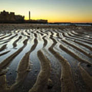 Low Tide On La Caleta Cadiz Spain Poster