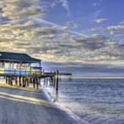 Low Tide Sunrise Tybee Island Poster