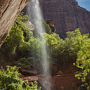 Lower Emerald Pool Falls In Zion Poster