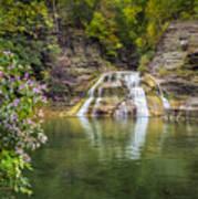 Lower Falls Of Enfield Glen Robert H. Treman State Park Poster