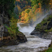 Lower Falls Of The Genesee River Poster