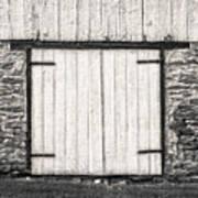Lower Level Door To An 1803 Amish Corn Barn  -  1803cornbarnblwh172868 Poster