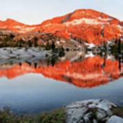 Lower Ottoway Lake Sunset - Yosemite Poster