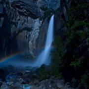 Lower Yosemite Falls Moonbow Poster