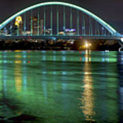 Lowry Bridge In St. Patrick's Day Green Poster