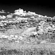 Lowry Pueblo Ruin Black And White Poster