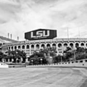 Lsu Tiger Stadium -bw Poster