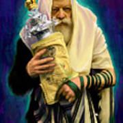 Lubavitcher Rebbe With Torah Poster by Sam Shacked