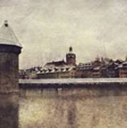 Lucerna, Kapellbrucke Poster