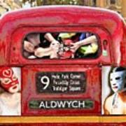 Lucha Bus London Poster