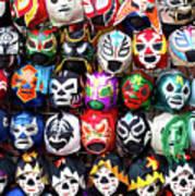 Lucha Libre Wrestling Masks Poster