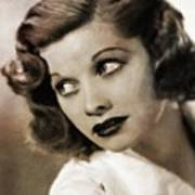Lucille Ball By Mary Bassett Poster