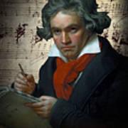 Ludwig Van Beethoven 1820 Poster