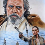 Luke And Rey Poster