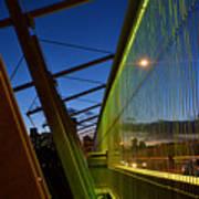 Luminous Green Bridge Poster