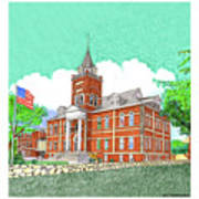 Luna County Court House  Deming  N M   Poster