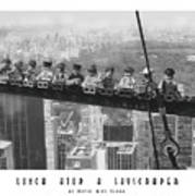 Lunch Atop A Skyscraper, By Lego Poster