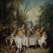 Luncheon Party In A Park Poster