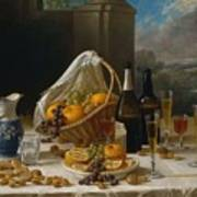Luncheon Still Life, At And By John F. Francis Poster