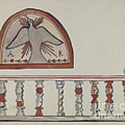 Lunette From Altar-church At Llano Quemado Altar Rail-church At Sanctuario, Chimayo Poster