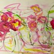 Lush Flowers Poster