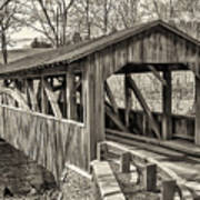 Luther Mills Bridge In Monochrome Poster