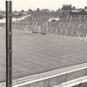 Luton Town - Kenilworth Road - Kenilworth Terrace North Goal 1 - Bw - August 1969 Poster