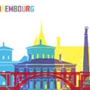 Luxembourg Skyline Pop Poster