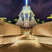 Luxor Casino Egyptian Sphinx Las Vegas Night Poster