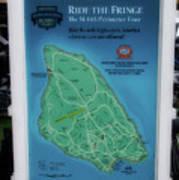 M 185 Ride The Fringe Signage Mackinac Island Michigan Vertical Poster