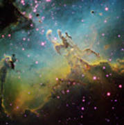 M16 The Eagle Nebula Poster by Ken Crawford