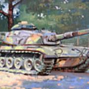 M60 A3 Desert Storm Tank- Plein Air Poster