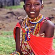Maasai Teenager Poster