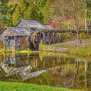 Mabry Mill Reflections Poster
