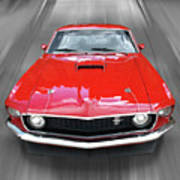 Mach1 Mustang 1969 Head On Poster