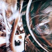 Machine Speed Warp In Blur Poster