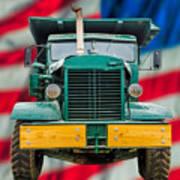 Mack Dump Truck Poster