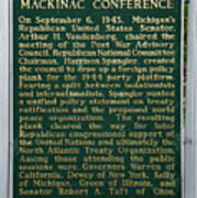 Mackinaw Conference Signage Mackinac Island Michigan Vertical Poster
