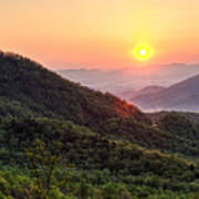 Macon County North Carolina Mountains Poster