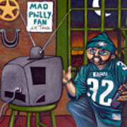 Mad Philly Fan In Texas Poster