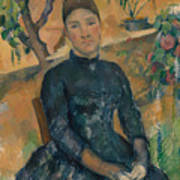 Madame Cezanne In The Conservatory Poster