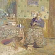 Madame Vuillard Sewing Poster