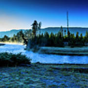 Madison River Yellowstone At Dawn Poster
